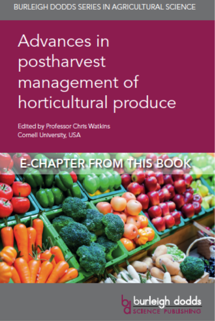 DeLong and Prange 2020. Book cover 685x1024 - Advances in CA storage of horticultural produce.